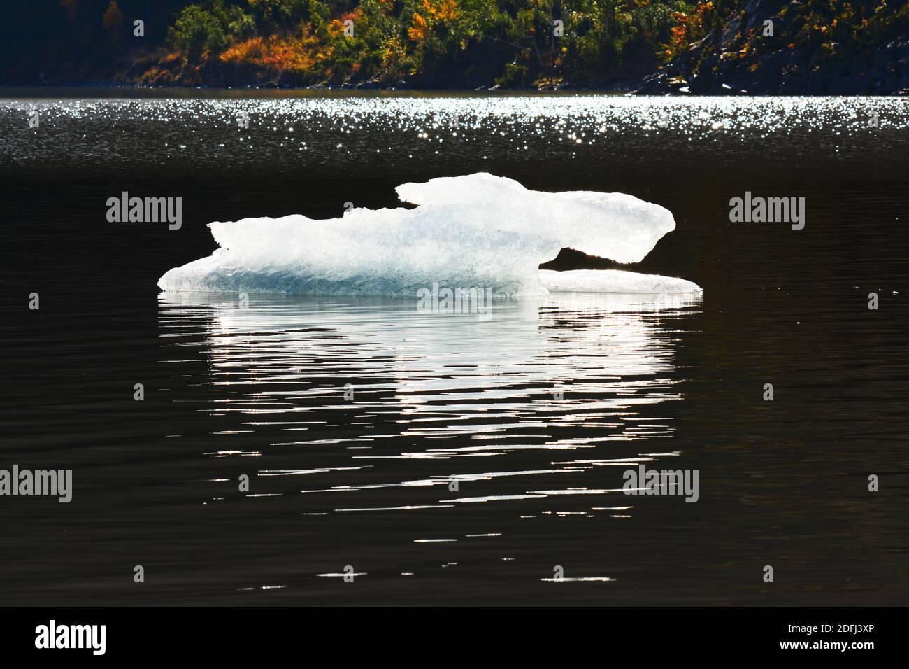 Ice floating in a glacier lake, Alaska Stock Photo