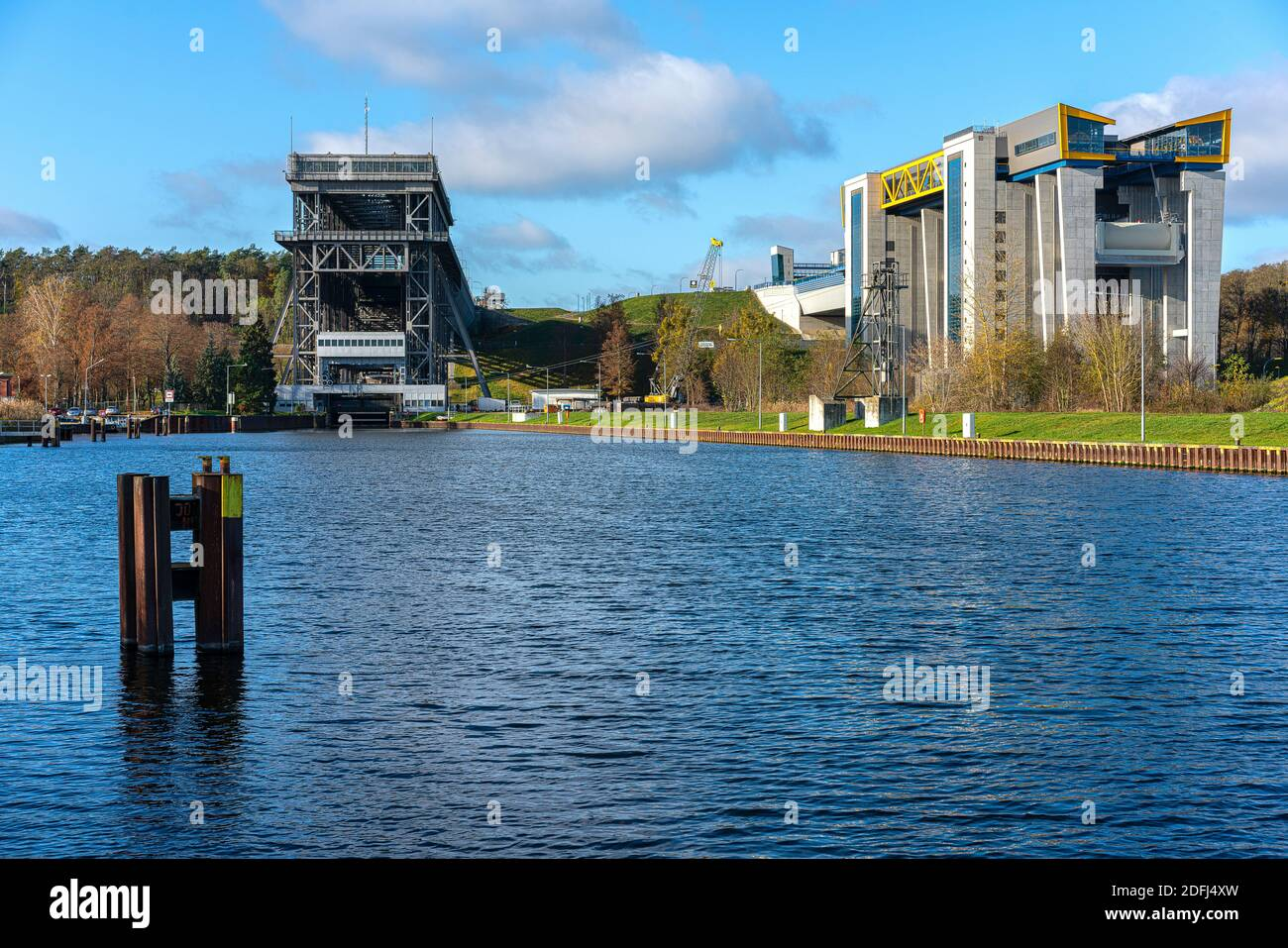Niederfinow Boat Lift Stock Photo