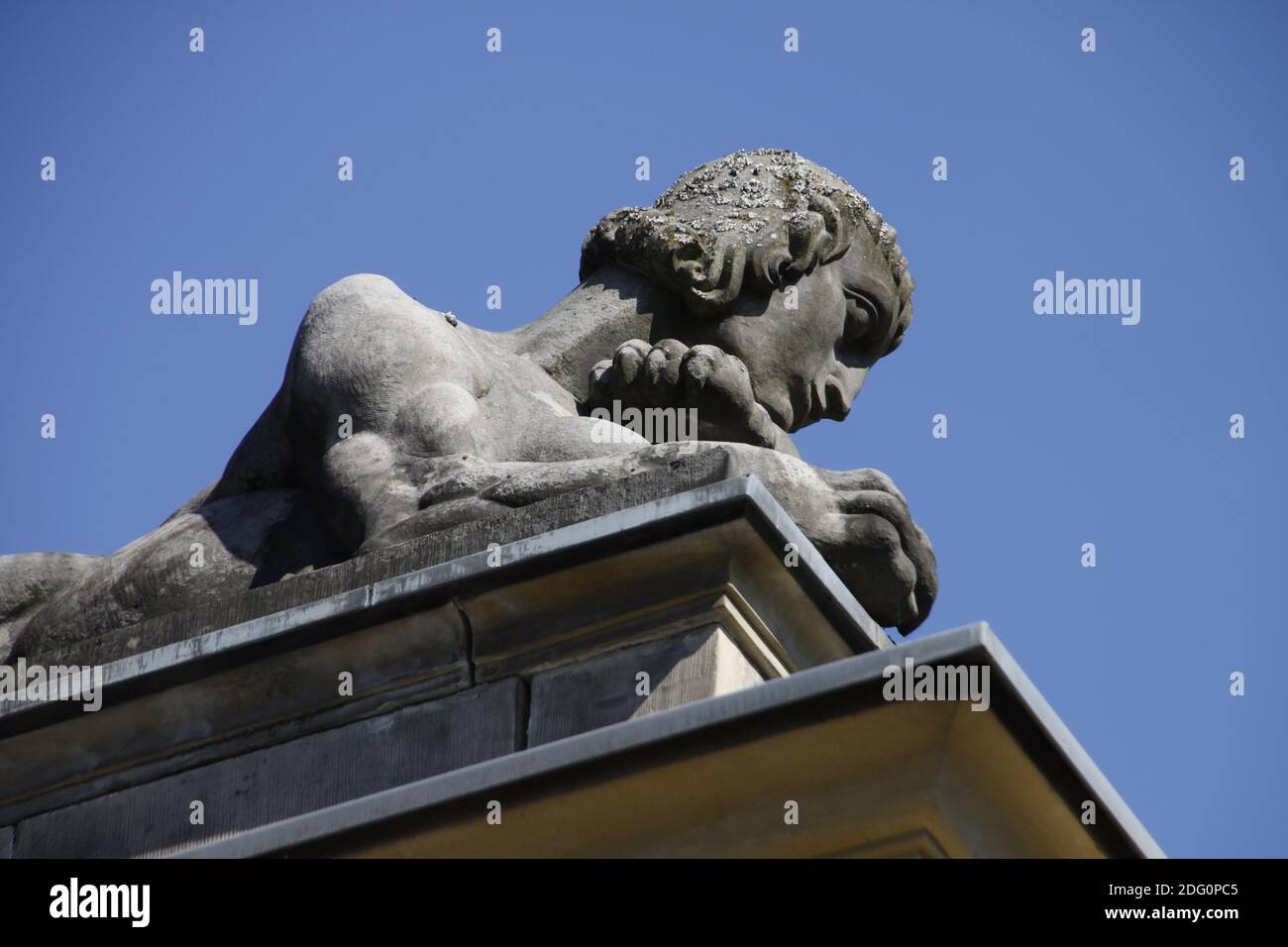 Statue at the entrance of the spa gardens Bad Pyrmont Stock Photo