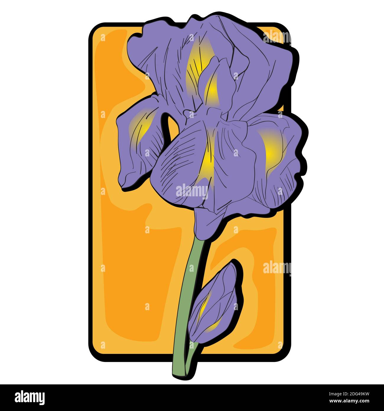 Iris Flower Art High Resolution Stock Photography And Images Alamy