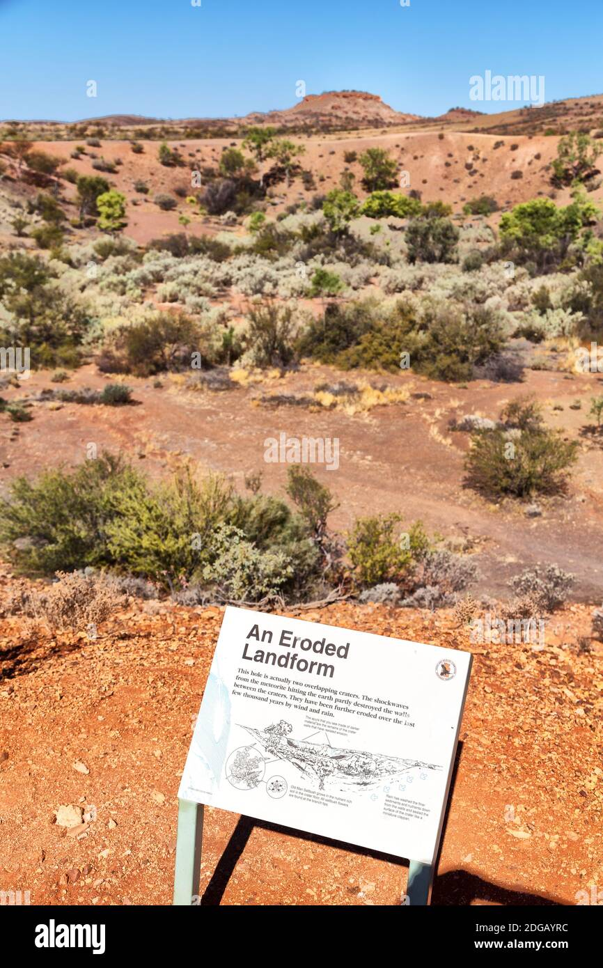 Nature wild   and outback in   the  meteorite fall Stock Photo
