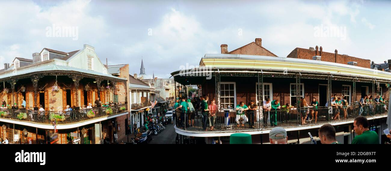 St. Patricks Day, celebration in New Orleans, Louisiana, USA Stock Photo