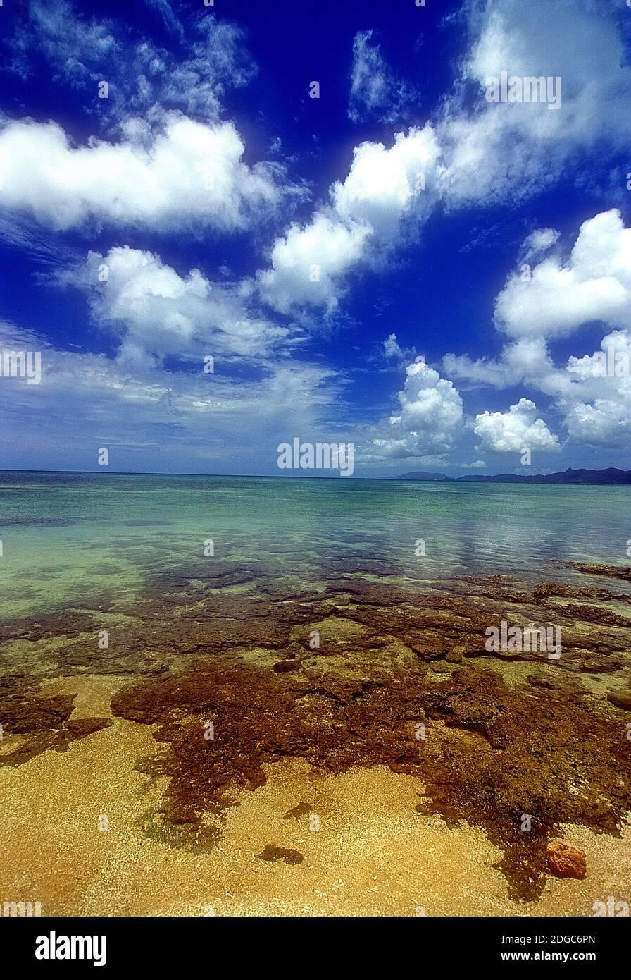 Yonehara Beach, Low Tide,  Ishigaki, Yahema Islands, Ryukyu Islands, Okinawa, Japan Stock Photo