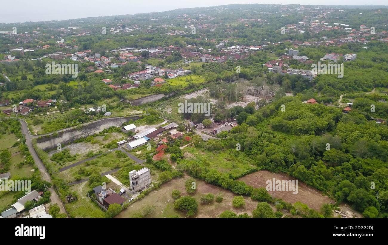 Aerial View Of Villas With Swimming Pool Green Area And Residential Area In Jimbaran Location Close To Garuda Wisnu Kencana Bali Indonesia Stock Photo Alamy