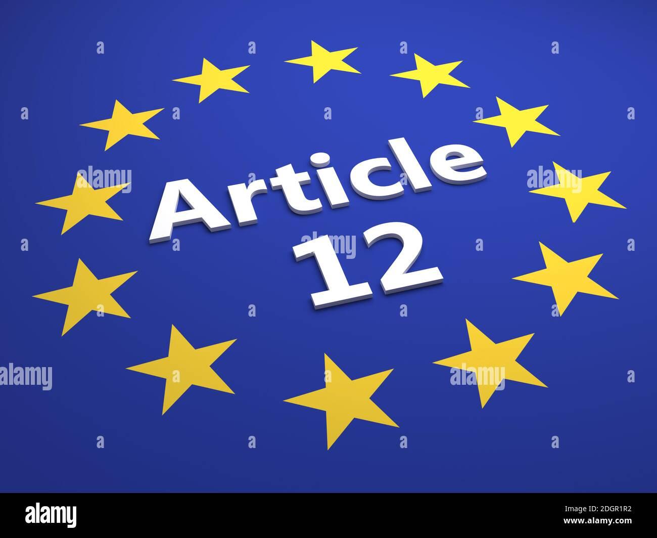 Article 12 Stock Photo