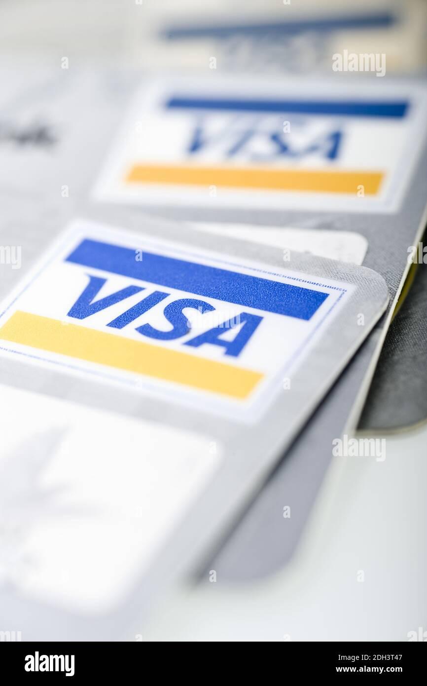 Visa Card, Visa Cards, Karten Kreditkarten, Visa Stock Photo - Alamy