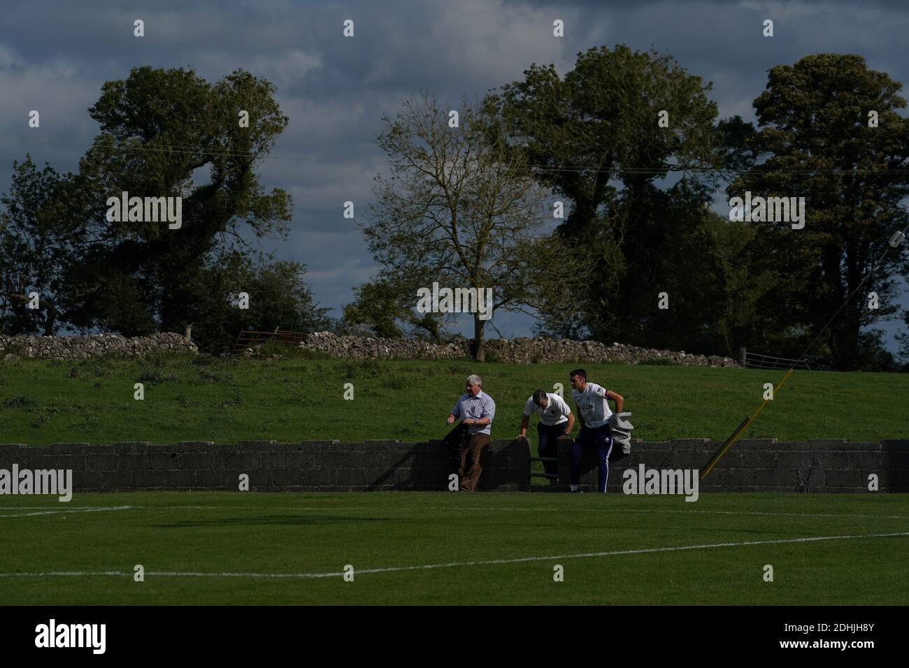 Fans Stand Beside The Playing Pitch Of The Roscommon District Football League Challenge Cup Final Loch arbhach) is a freshwater lake in the northwest of ireland. alamy