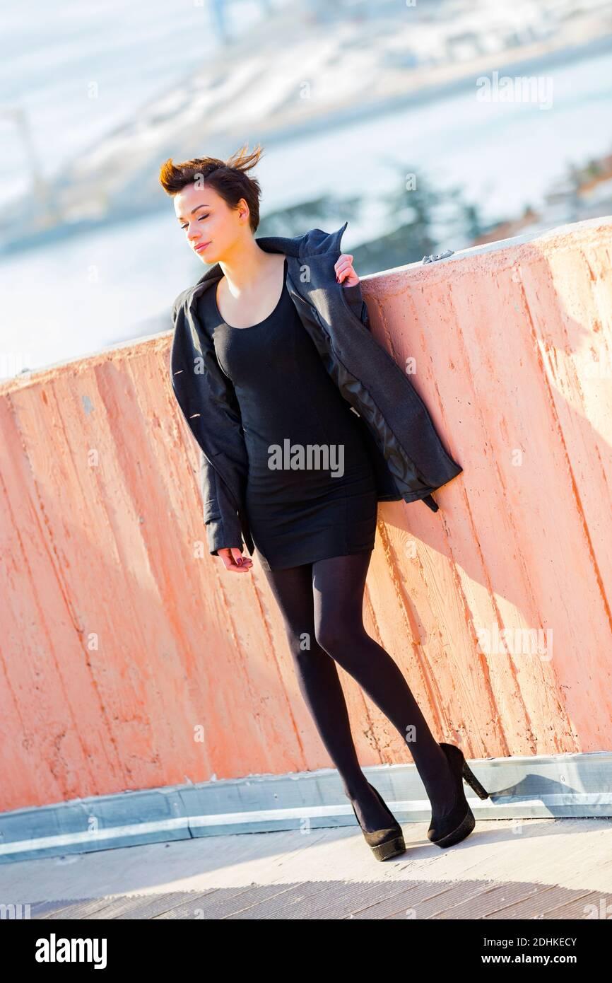 Teengirl legs heels Stock Photo