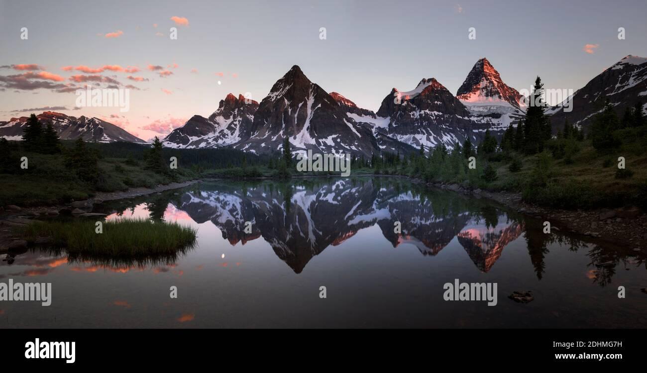 Sunset at Mt Assiniboine Stock Photo