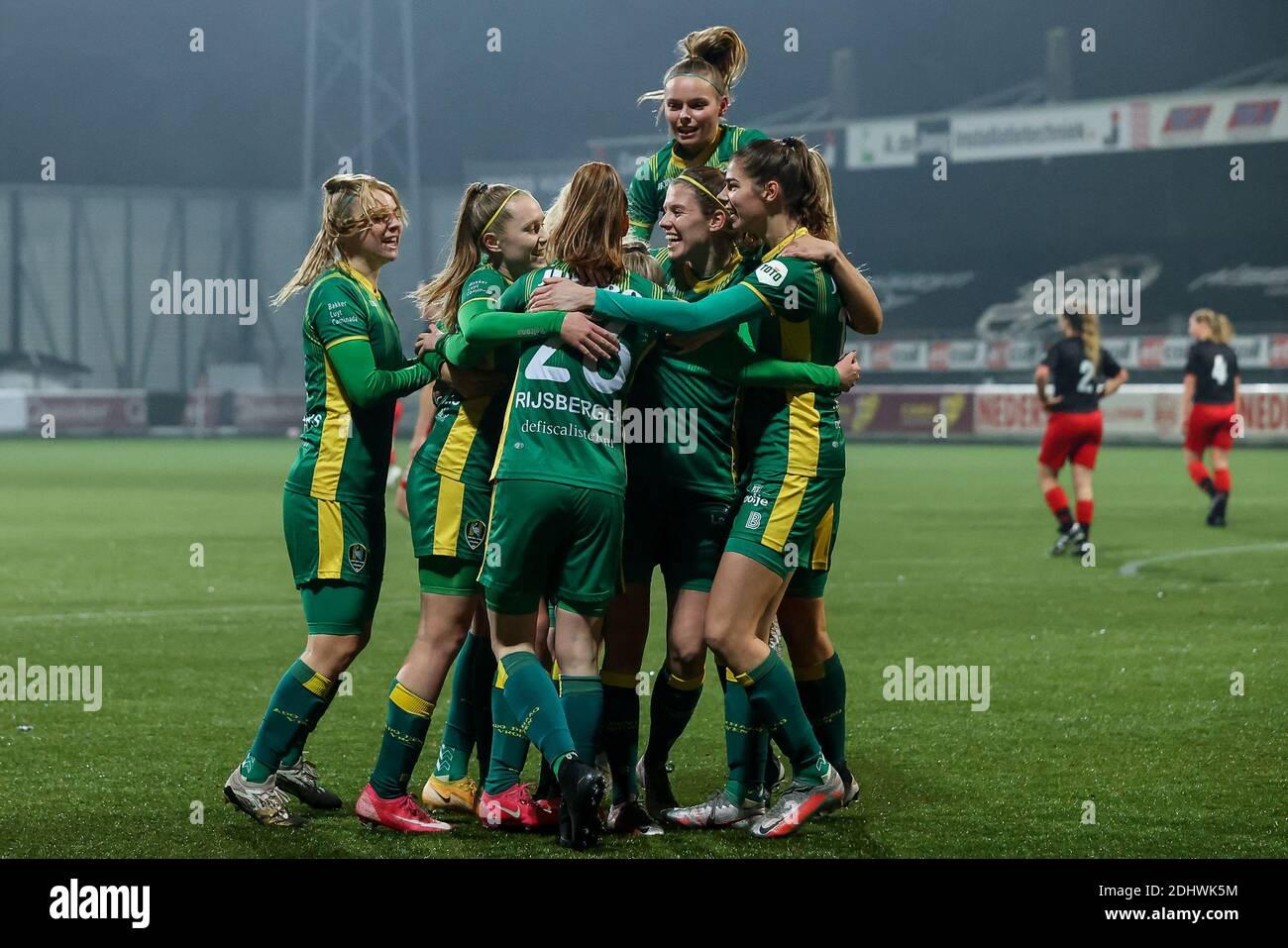 Rotterdam Netherlands December 11 Ado Den Haag Players Celebrates 0 1 During The Dutch Women Eredivisie Match Between Excelsior And Ado Den Haag A Stock Photo Alamy