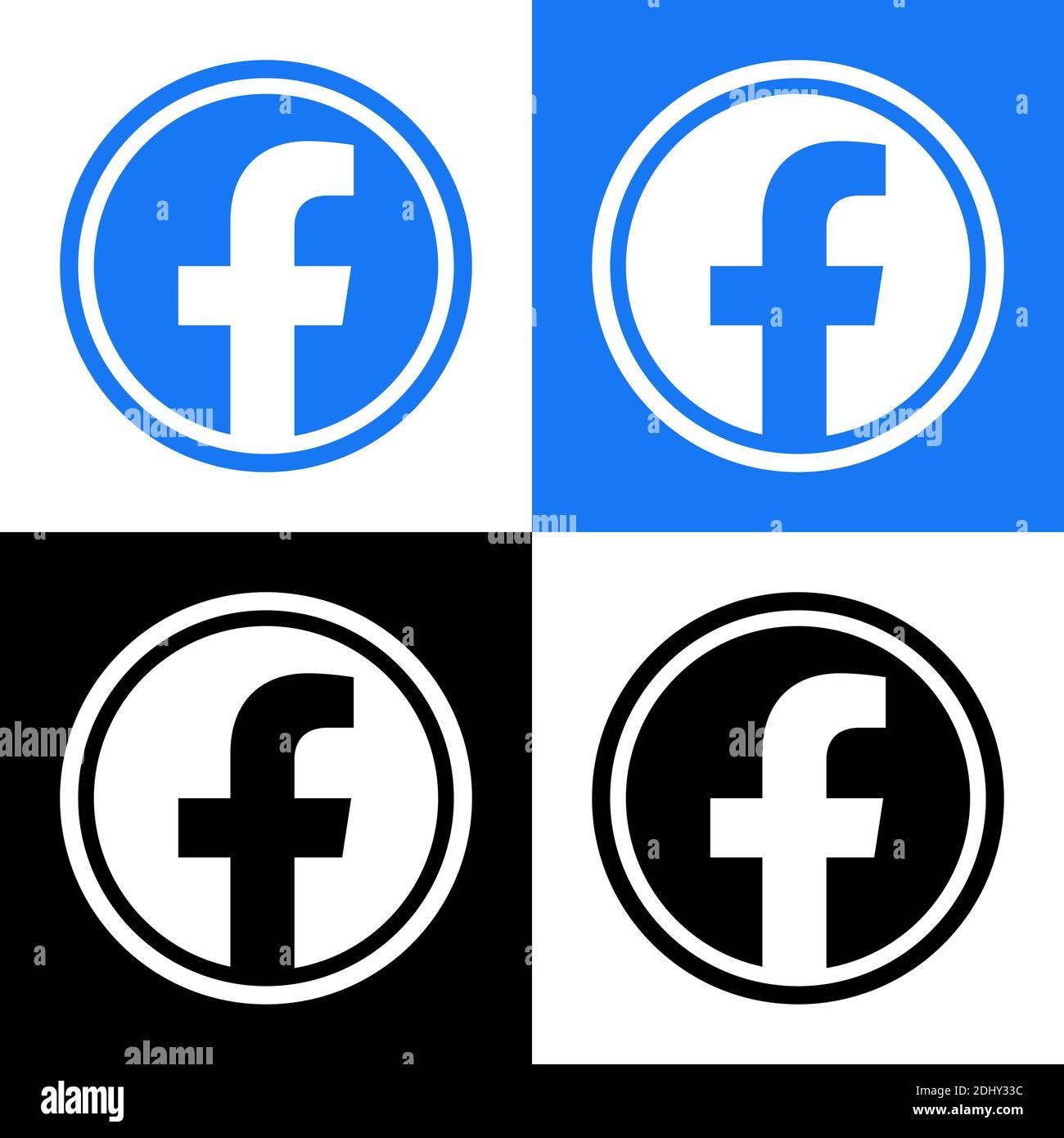 Vector facebook icon black View 23