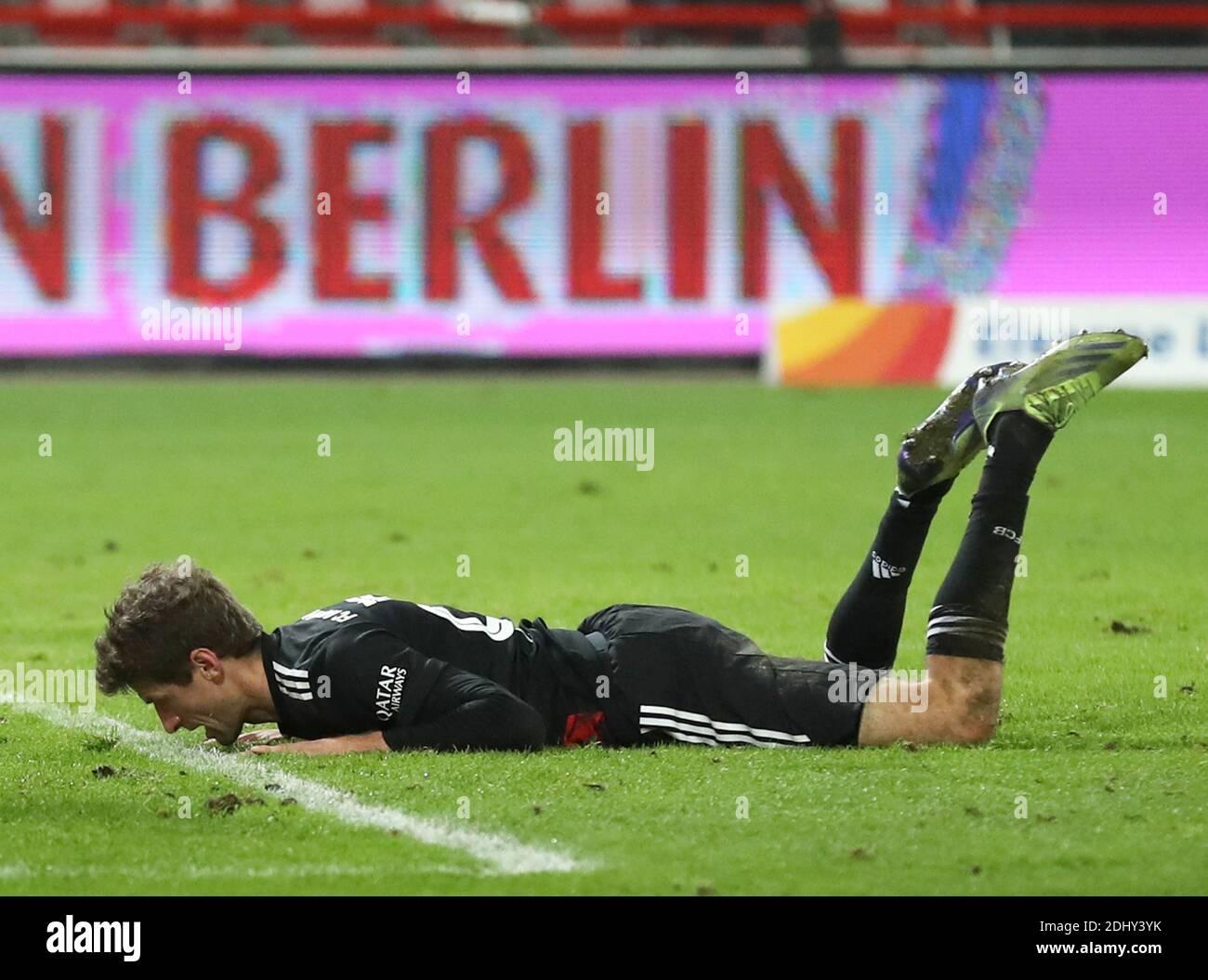 Berlin, Germany. 12th December, 2020. Thomas MŸller Mueller FC Bayern Munich  FC Union Berlin  - FC Bayern Munich 12.12.2020 stadium An der alten Foersterei  Football 1 . Bundesliga Saison 2020 / 2021 Credit : diebilderwelt / Alamy Live News Stock Photo