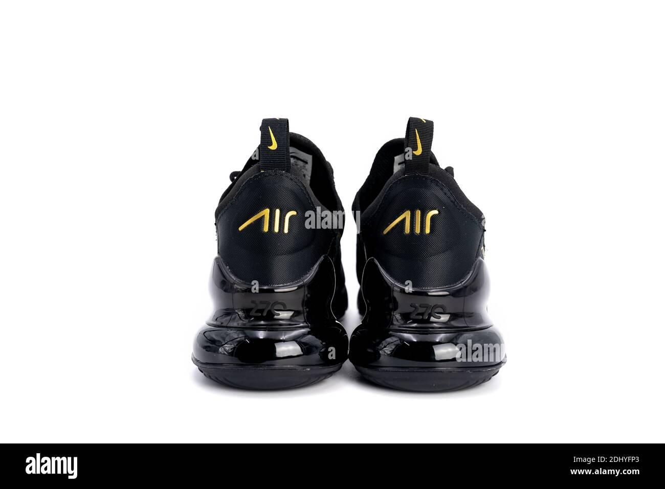 Bangkok, Thailand - 23 Mar 2020, Nike air max 270 black and gold ...