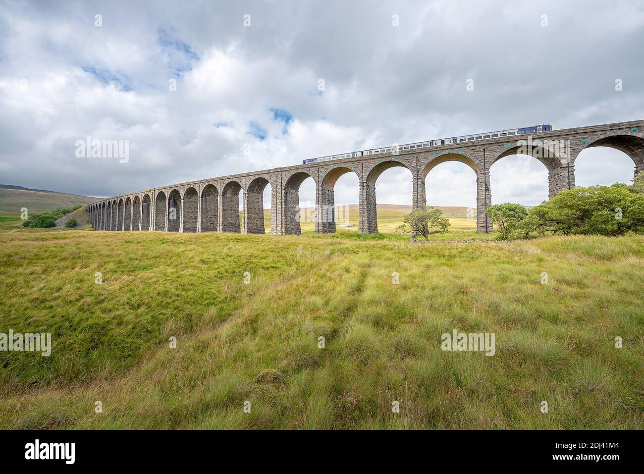 Yorkshire Dales National Park, Yorkshire, UK - A view of Ribblehead viaduct in the Yorkshire Dales, England. Stock Photo