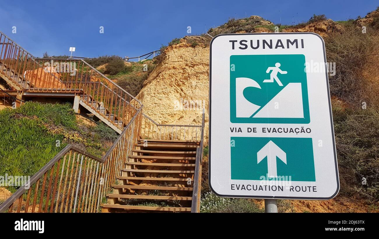 Warning Sign At Stairs High Resolution Stock Photography And Images Alamy