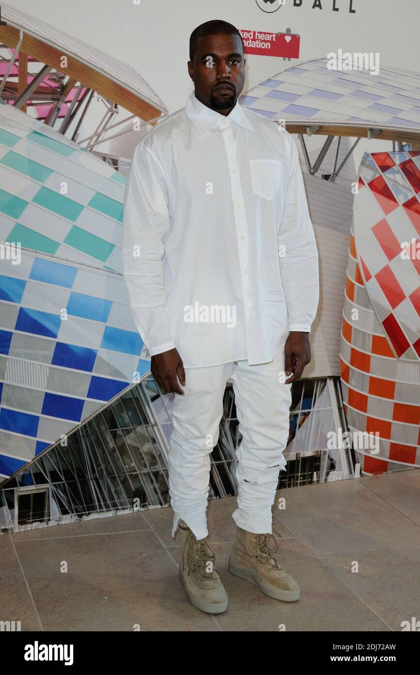 Kanye West Attending The Love Ball At The Fondation Vuitton As Part Of The Haute Couture Fall Winter 2016 2017 Paris Fashion Week On July 06 2016 In Paris France Photo By