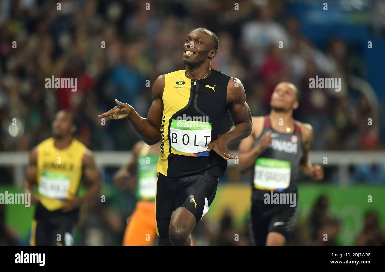 Usain Bolt Of Jamaica Wins The Men S 100m Final On Day 9 Of The Rio 2016 Olympic Games At The Olympic Stadium On August 14 2016 In Rio De Janeiro Brazil Photo