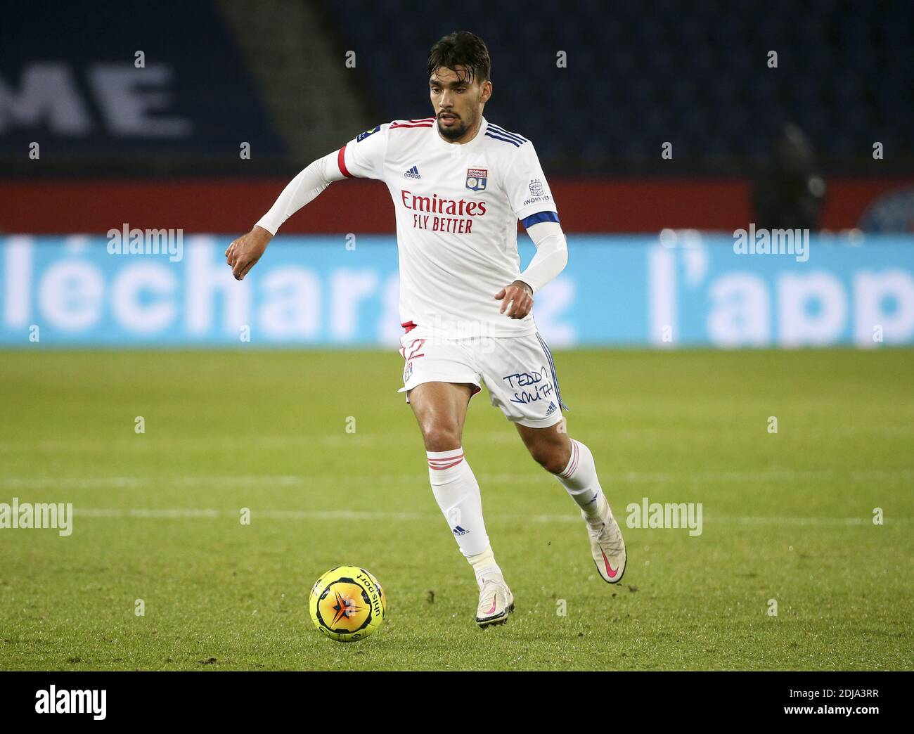 Lucas Paqueta of Lyon during the French championship Ligue 1 football match between Paris Saint-Germain (PSG) and Olympique Lyon / LM Stock Photo