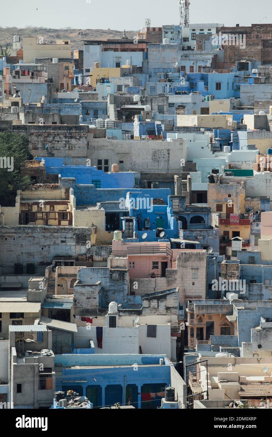 High Angle View Of Townscape Against Sky Stock Photo