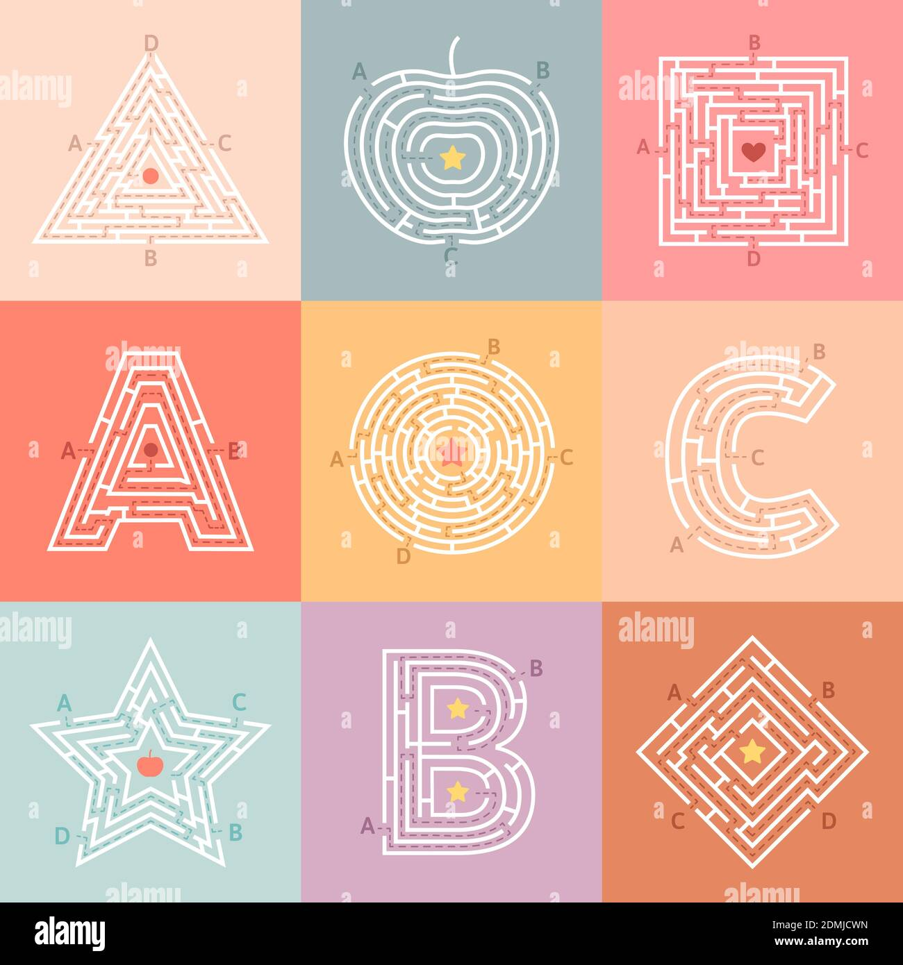 Page 3 Path Maze Activity Kids High Resolution Stock Photography And Images Alamy [ 1390 x 1300 Pixel ]