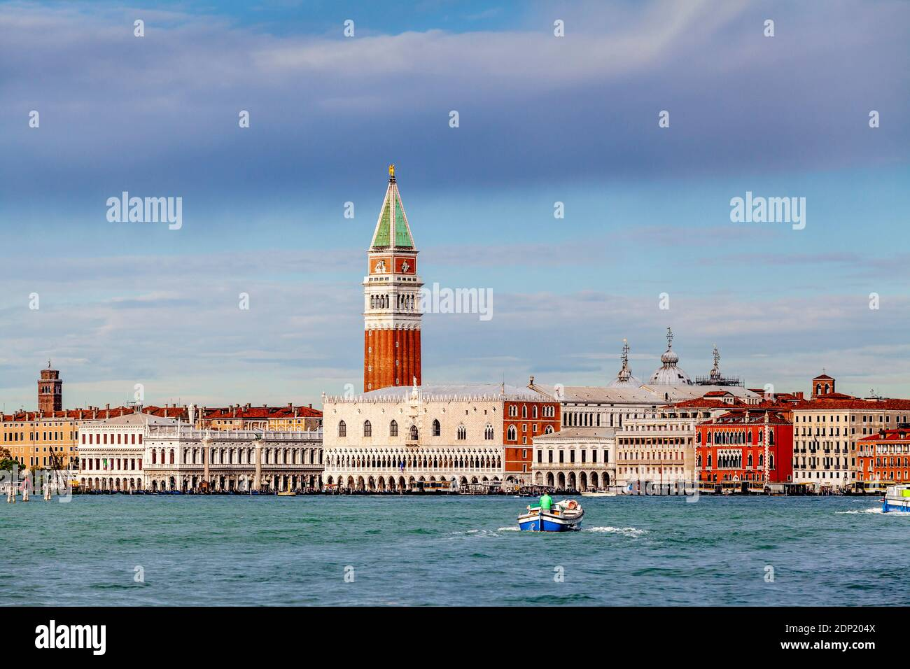 A View Of The Historic Waterfront Buildings, Venice, Italy. Stock Photo