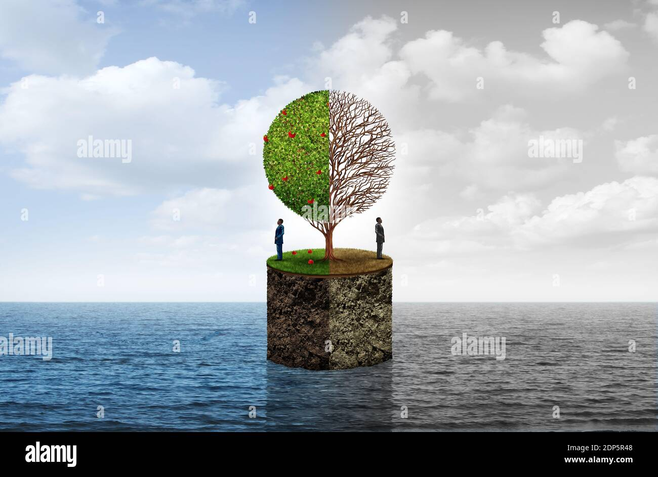 Economic status and socioeconomic class or social financial standing as an economy phase business concept with 3D illustration elements. Stock Photo