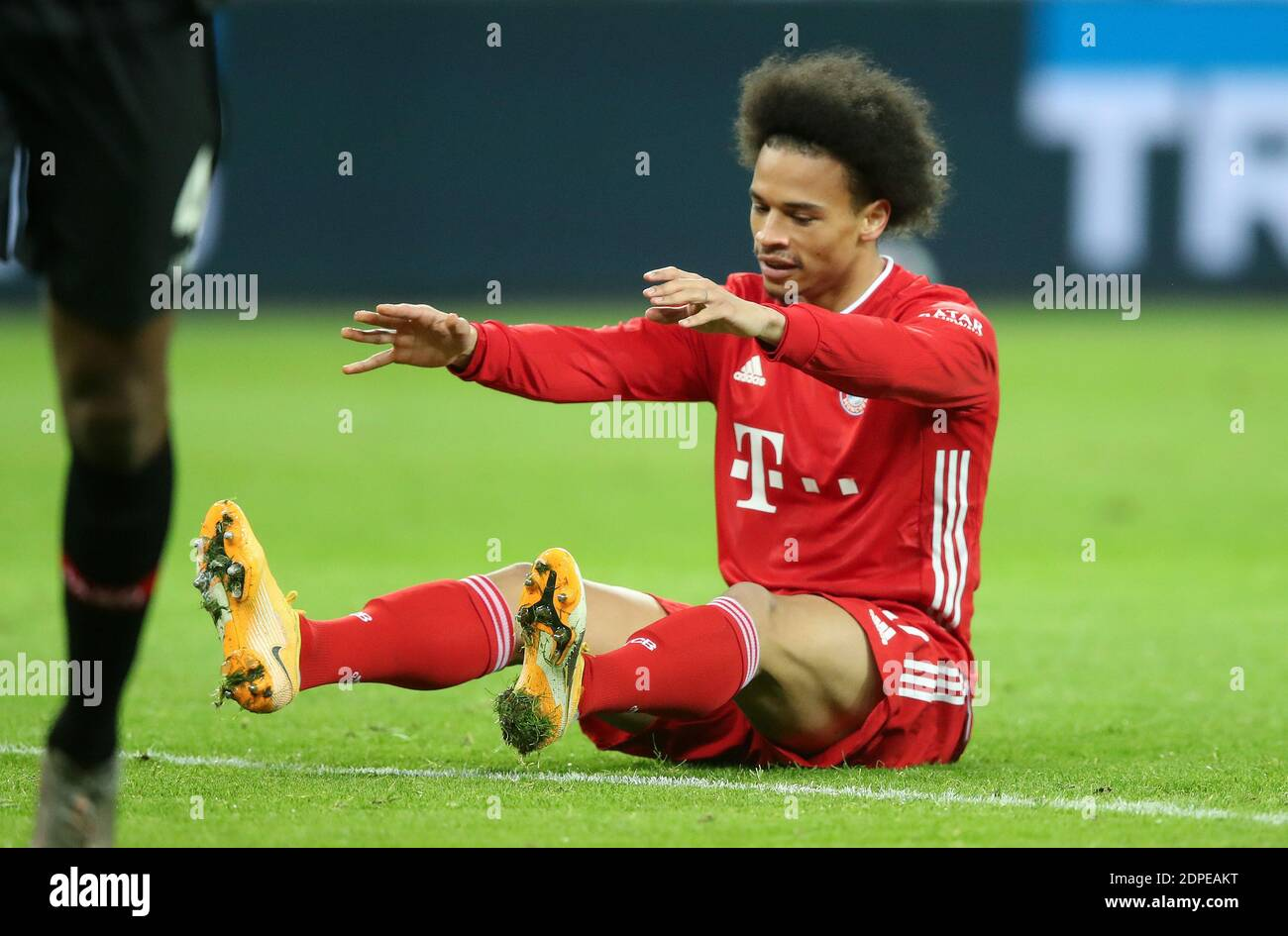 Leroy Sane FC Bayern MŸnchen Leverkusen 19.12.2020  in  BayArena  Bayer Leverkusen vs FC Bayern Muenchen Munich  Football Bundesliga  Fussball 1. Bundesliga Saison 2020 / 2021   © diebilderwelt / Alamy Live News Stock Photo