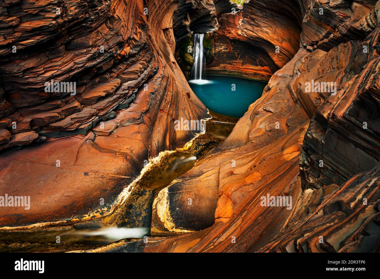 Outstanding Spa Pool in Karijini National Park. Stock Photo