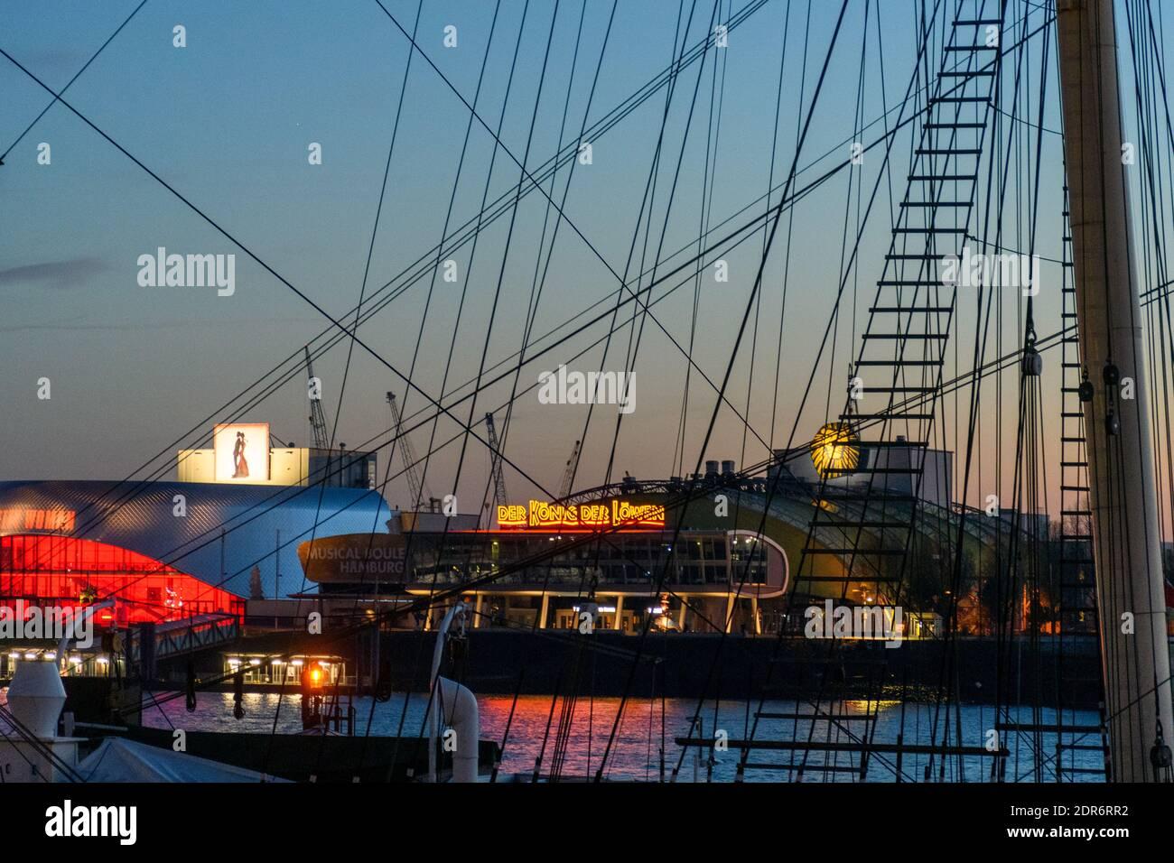 Hamburg im Advent während der Corona Pandemie im Dezember 2020 Stock Photo