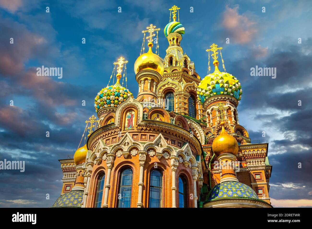 Church of the Savior on Spilled Blood in St. Petersburg, Russia Stock Photo