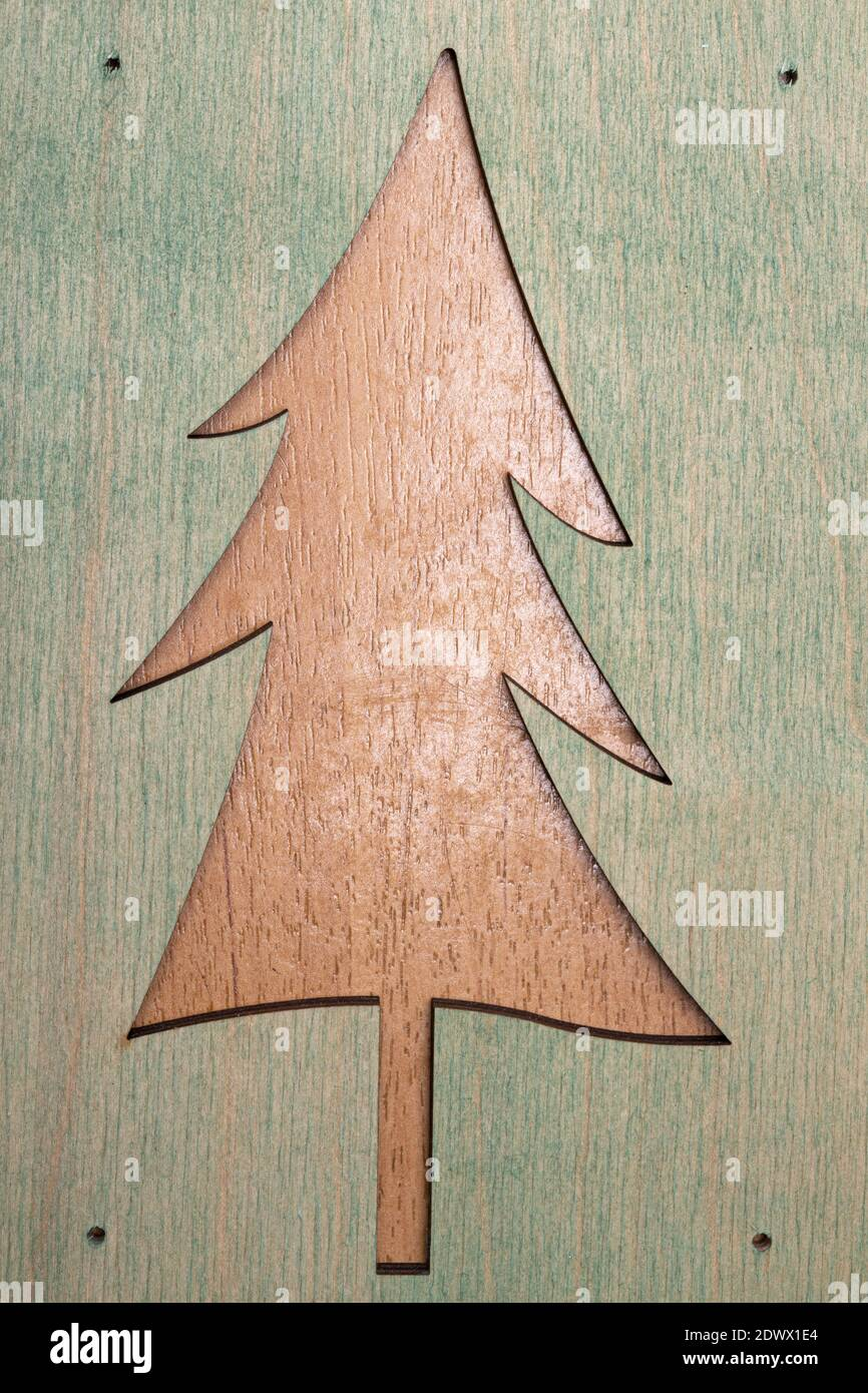 Wooden Christmas Tree Template Stock Photo Alamy