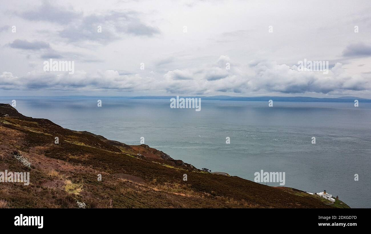 Scenic View Of Sea Against Sky Stock Photo