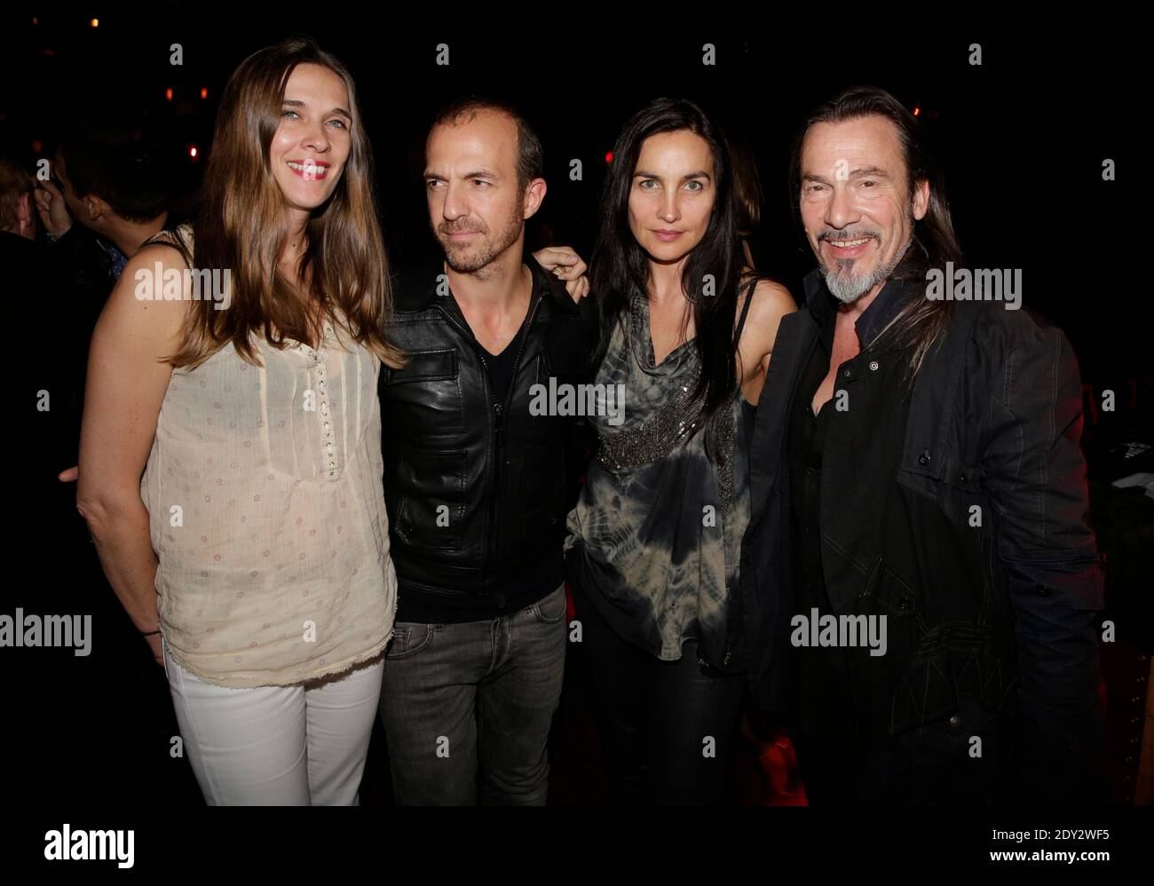 Florent Pagny His Wife Azucena Calogero And His Wife Gets A Diamond Disc For His Album Vieillir Avec Toi At Titty Twister In Paris France On October 01 2014 Photo By Jerome