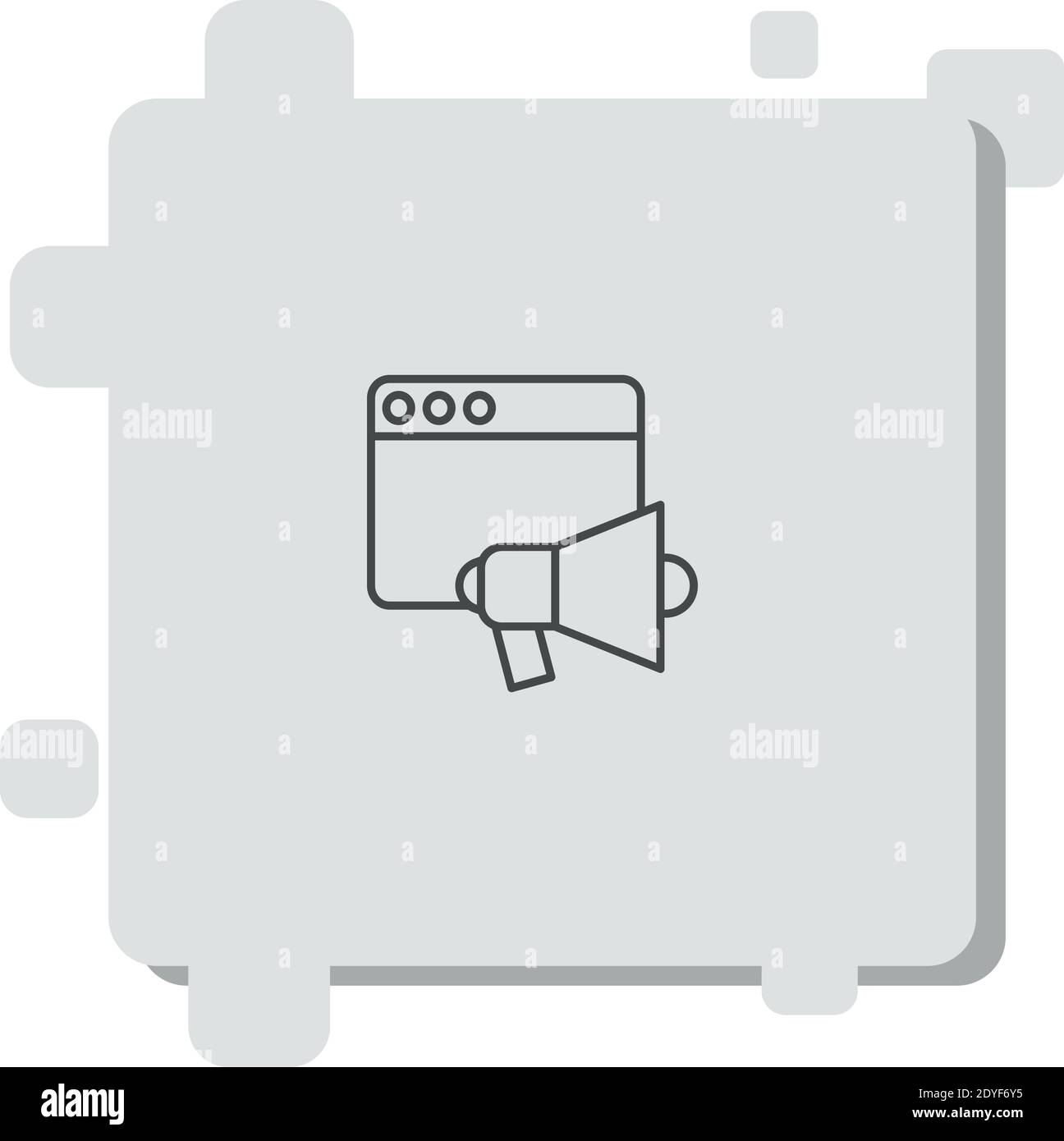 loudspeaker vector icon modern simple vector illustration Stock Vector
