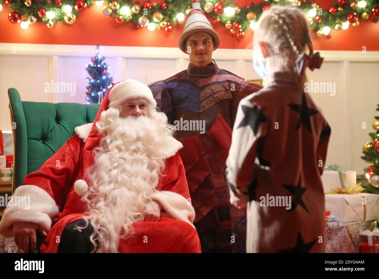 Father Christmas Trolley Square 2021 Father Christmas Assistant High Resolution Stock Photography And Images Alamy