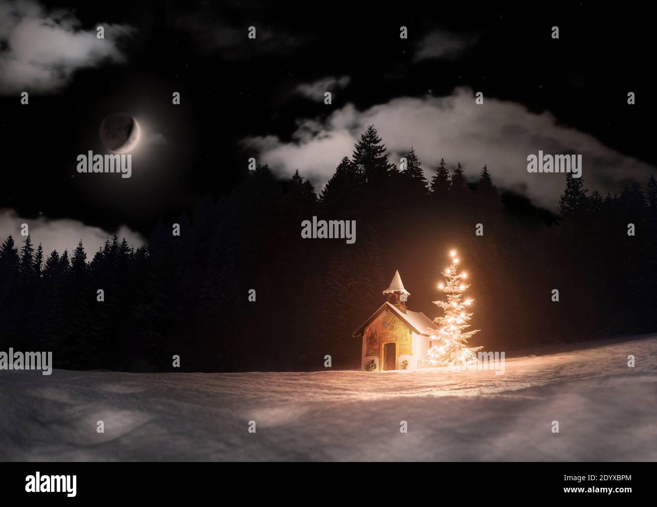 Christmas Moon High Resolution Stock Photography And Images Alamy