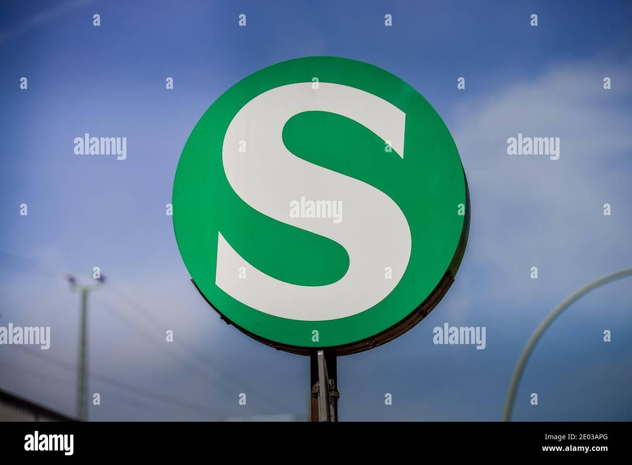 Signet S-Bahn, Berlin, Deutschland Stock Photo
