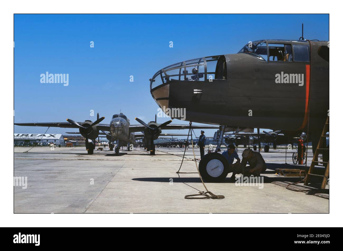 198-f 1942 New B-25 BOMBERS WW2 Photo