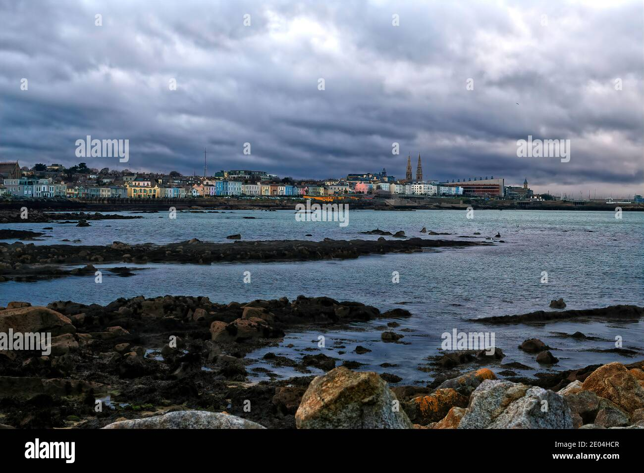 A view of Dun Laoghaire seafront in County Dublin, Ireland Stock Photo