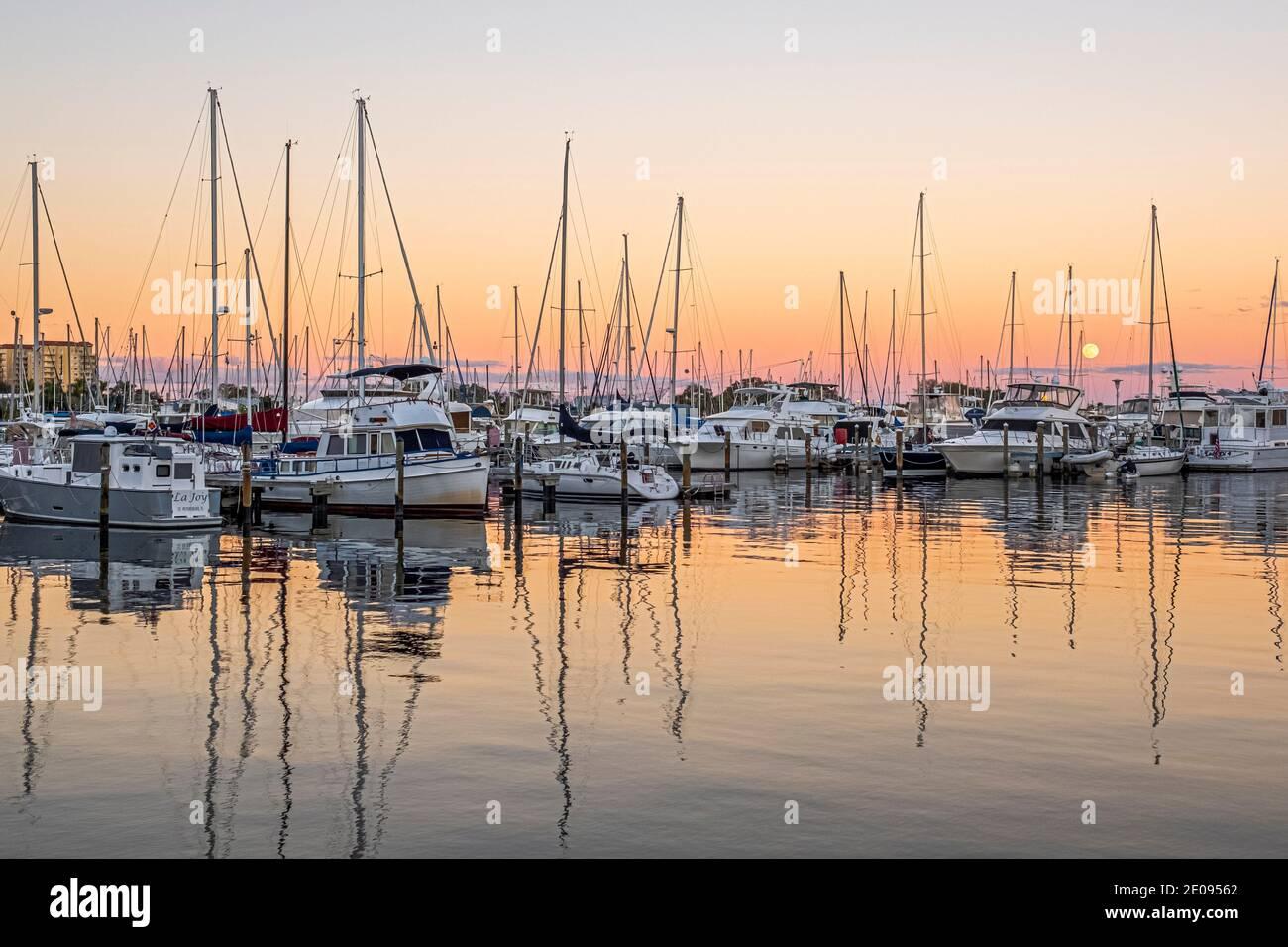 Marina - St Petersburg, Florida Stock Photo