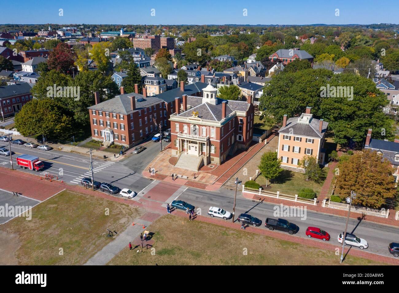 Salem Custom House, Salem Maritime National Historic Site, Derby Waterfront District, Salem, MA, USA Stock Photo