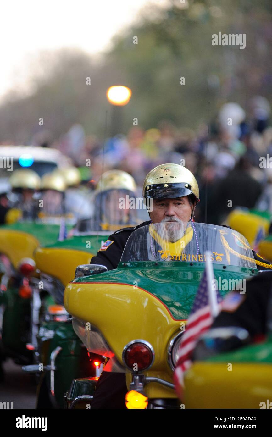 General views during the Bacchus Parade as part of the Mardi Gras celebrations in New Orleans, LA, USA on February 19, 2012. Photo by Craig Mulcahy/ABACAPRESS.COM Stock Photo
