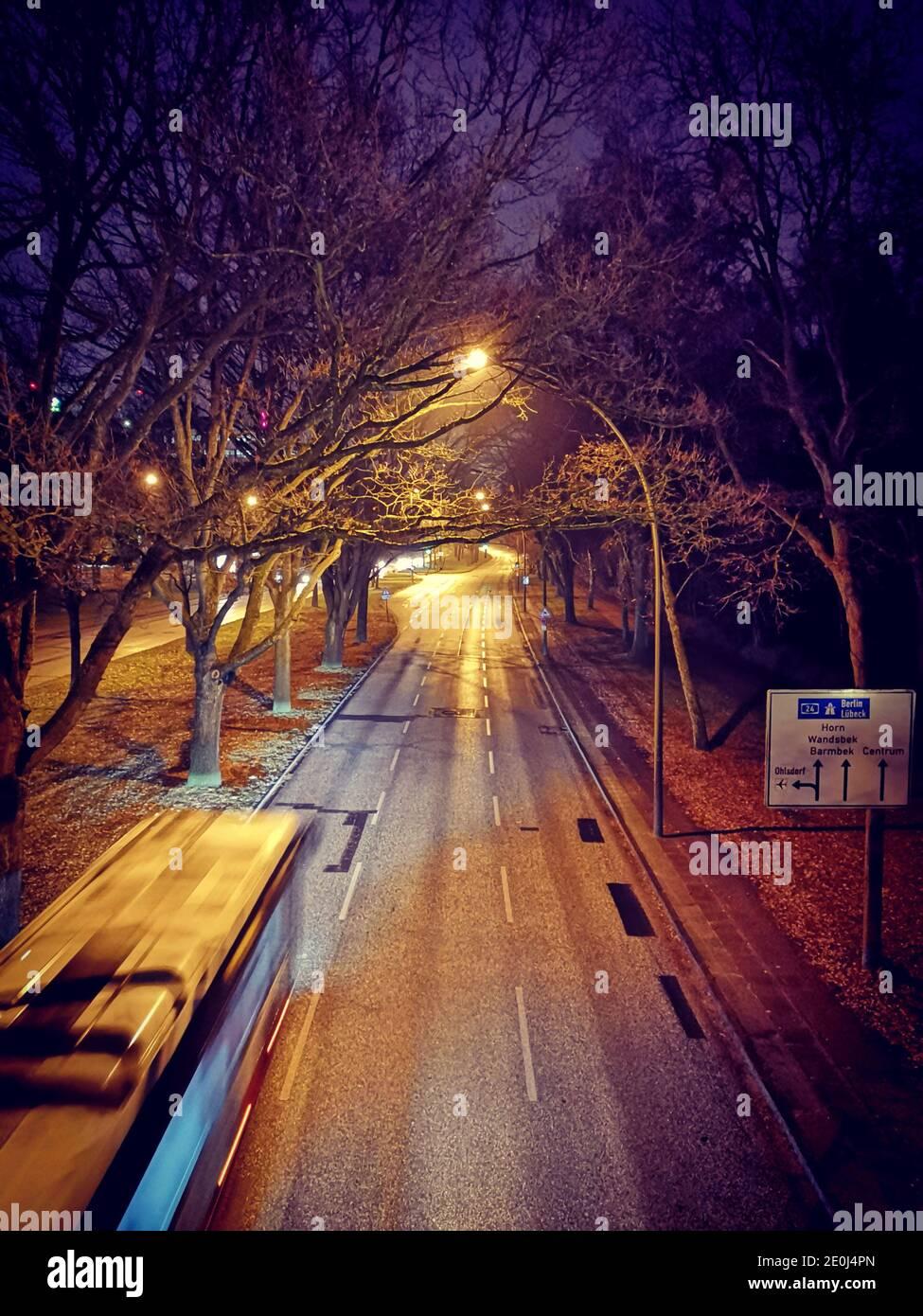 Leere Straßen im Lockdown, Ring 2, City Nord, Hamburg, Deutschland Stock Photo