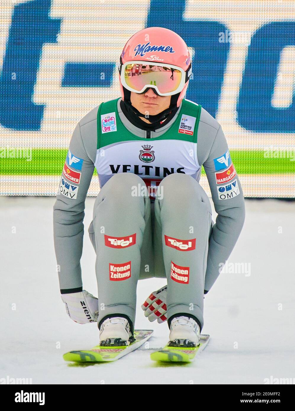 Daniel HUBER, AUT  in action at the Four Hills Tournament Ski Jumping at Olympic Stadium, Grosse Olympiaschanze in Garmisch-Partenkirchen, Bavaria, Germany, January 01, 2021.  © Peter Schatz / Alamy Live News Stock Photo
