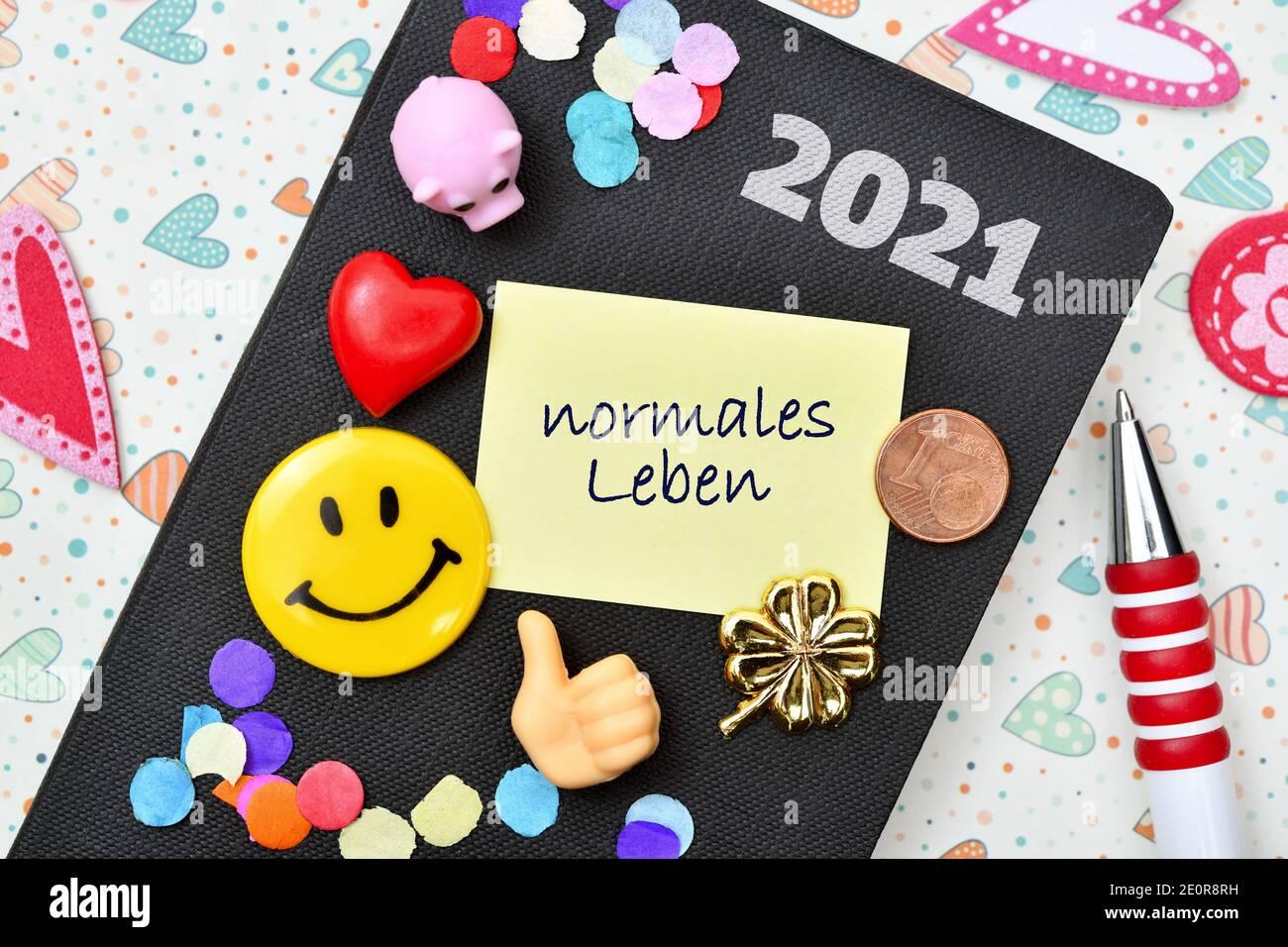 New Years Resolutions, Symbolic Image Stock Photo