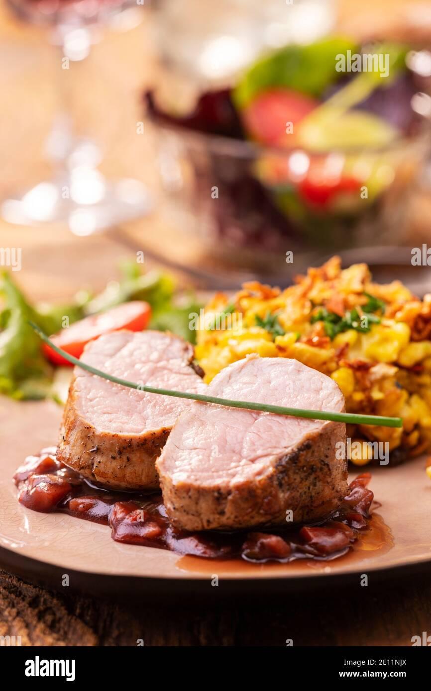Pork Fillet Stock Photo