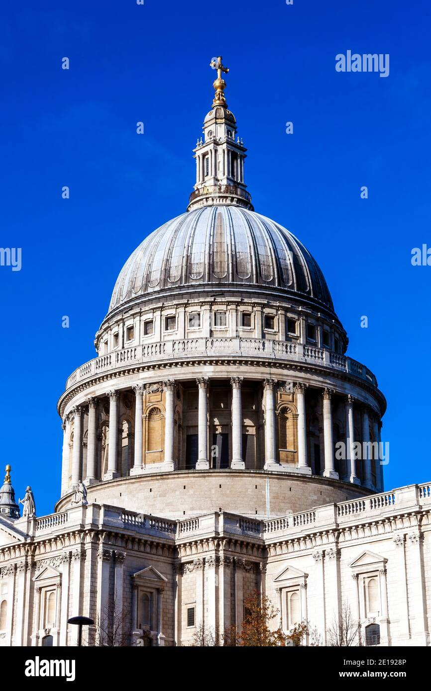 St Paul's Cathedral  in London England UK built by Sir Christopher Wren which a popular tourism travel destination visitor landmark of the city stock Stock Photo