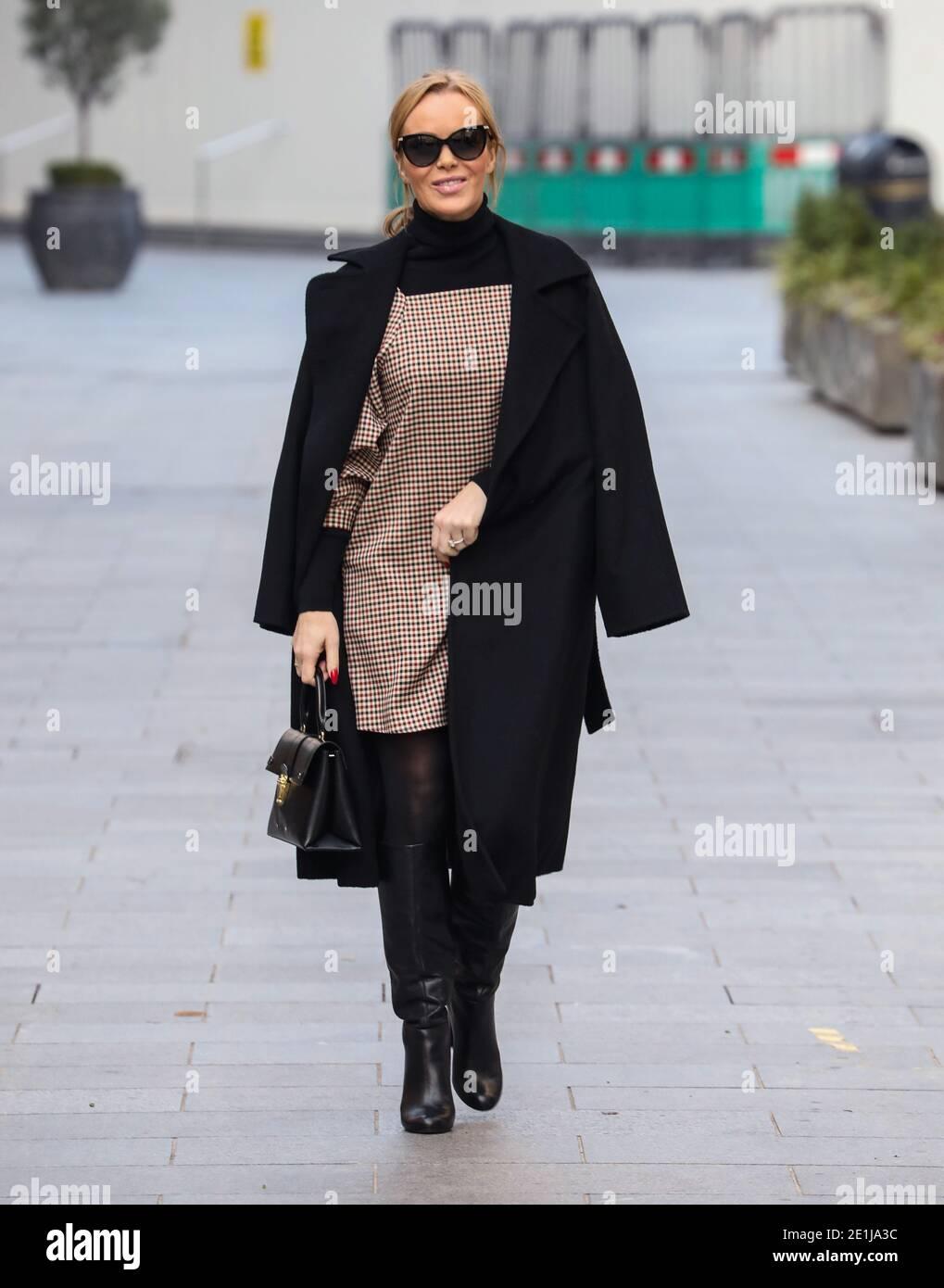 Non Exclusive: Amanda Holden, Global Radio Studios, London, UK, 07 January 2021, Photo by piQtured Stock Photo