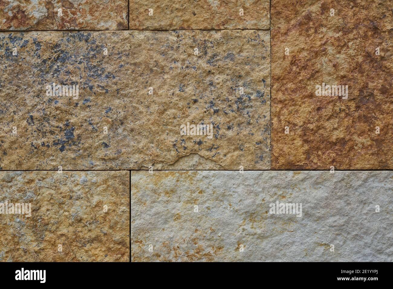 coloured stone block background, horizontal Stock Photo