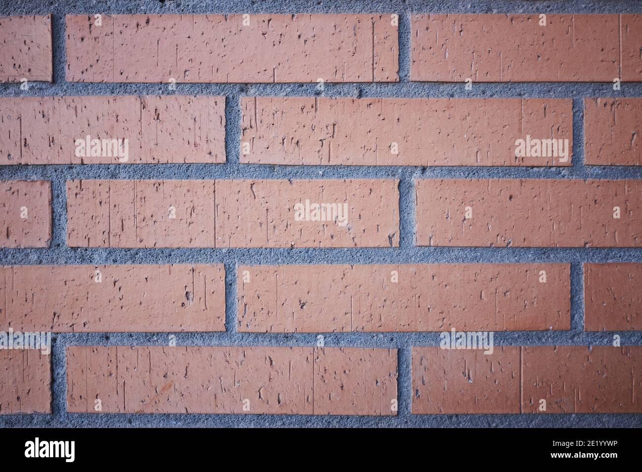 background of worn bricks Stock Photo